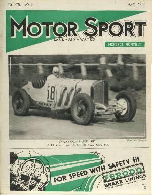 Cover of archive issue April 1932