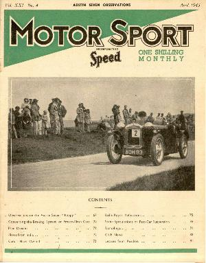 Cover of archive issue April 1945