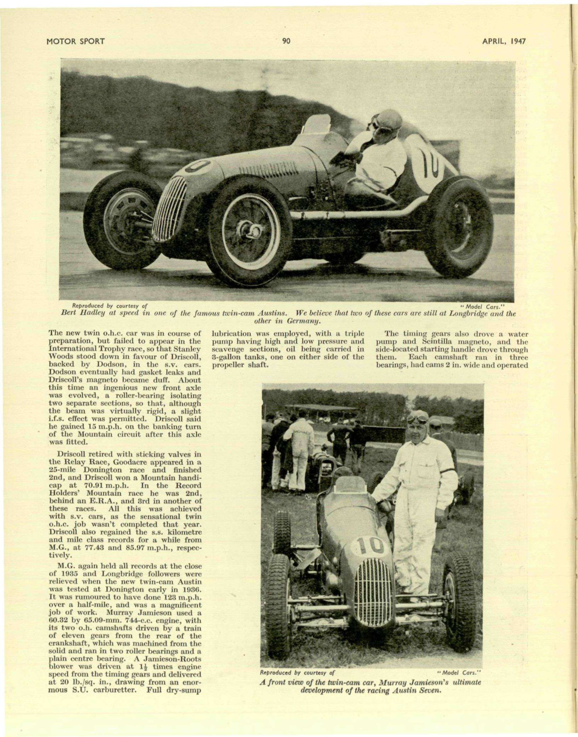 The Development Of The Racing Austin Seven Motor Sport