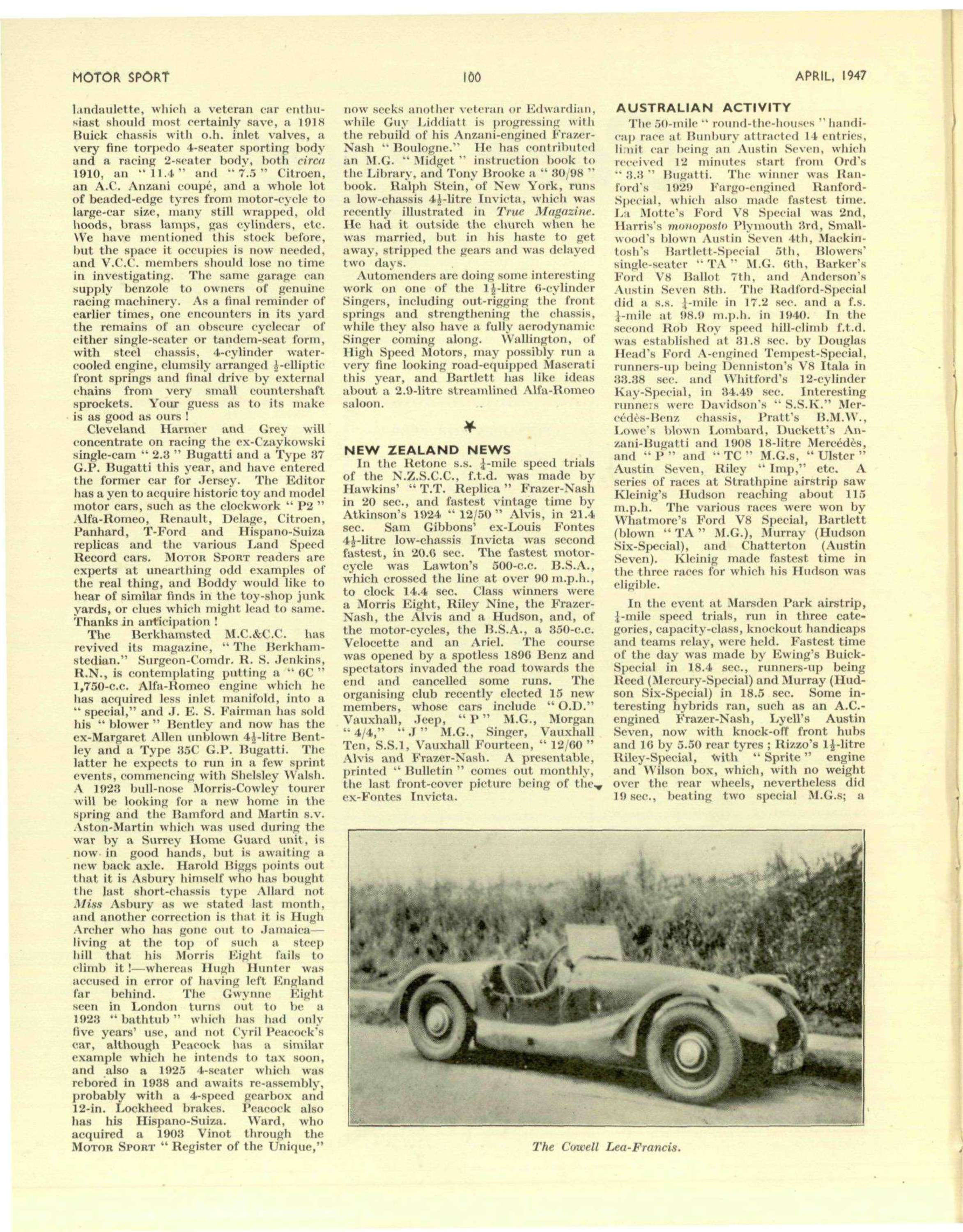 Club News | Motor Sport Magazine Archive