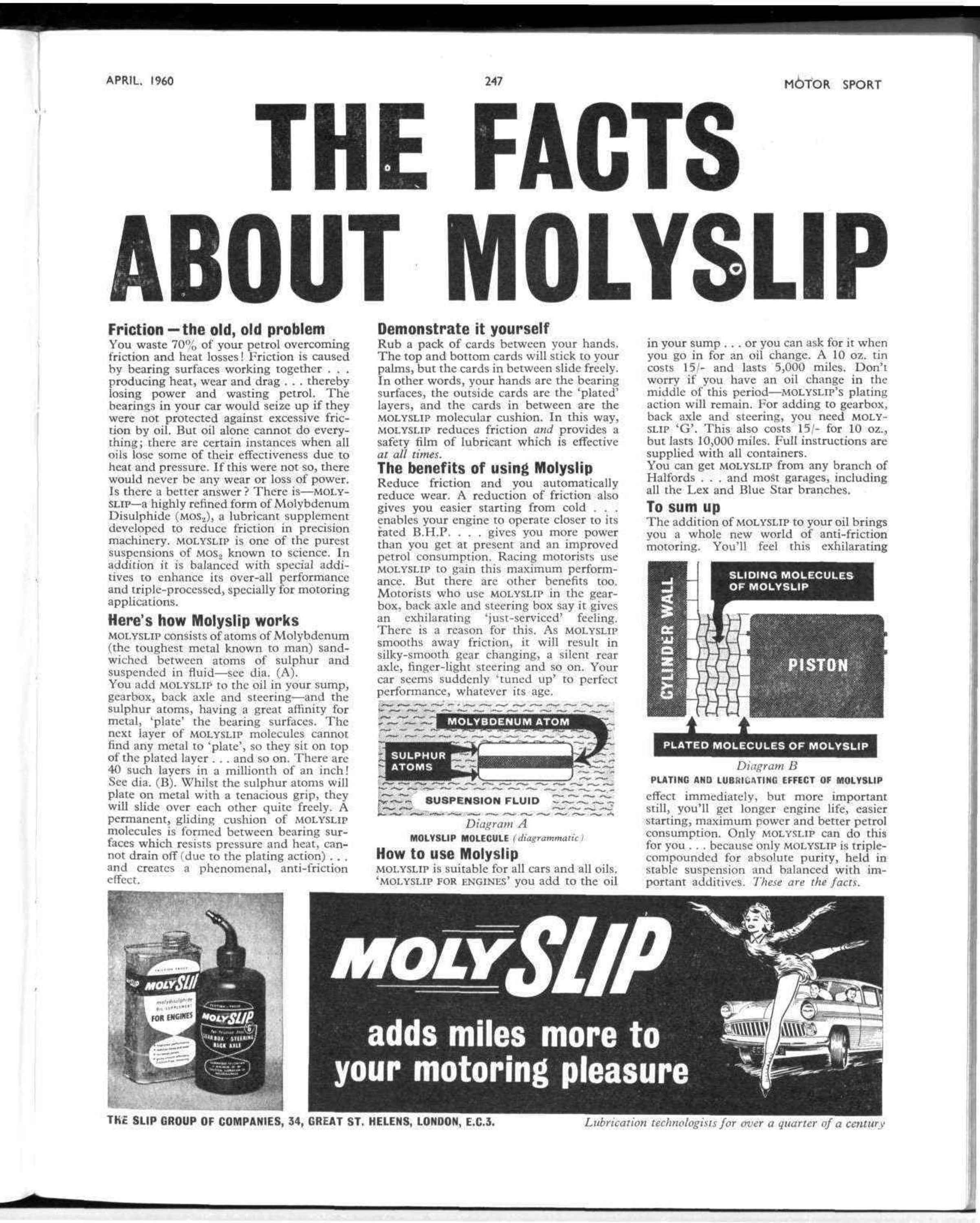 THE FACTS ABOUT MOLY LIP   Motor Sport Magazine Archive