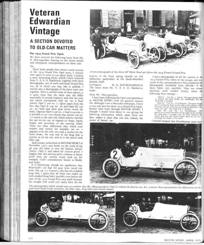 Veteran - Edwardian - Vintage   Motor Sport Magazine Archive