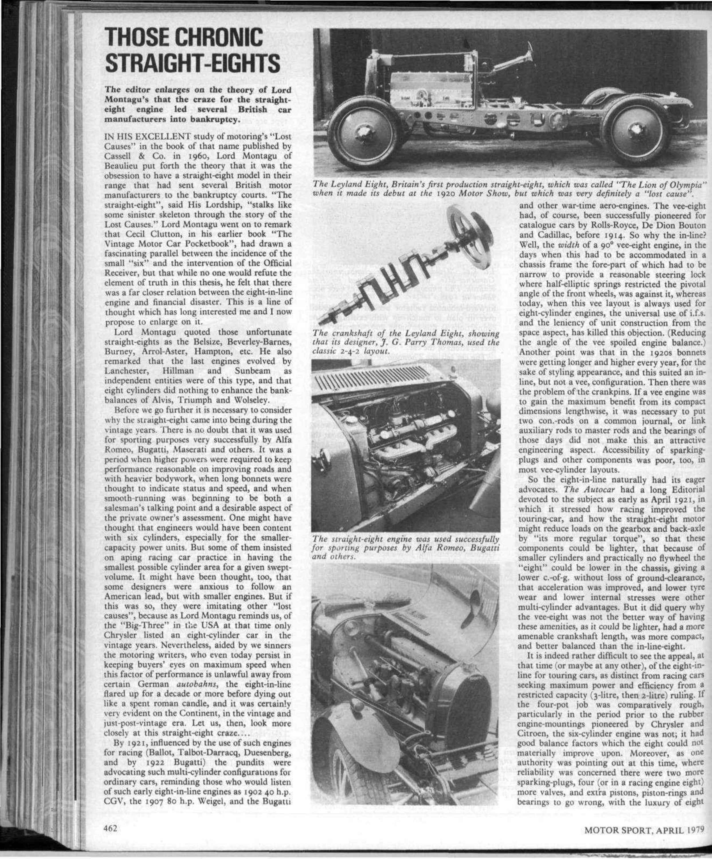 Those chronic straight-eights   Motor Sport Magazine Archive