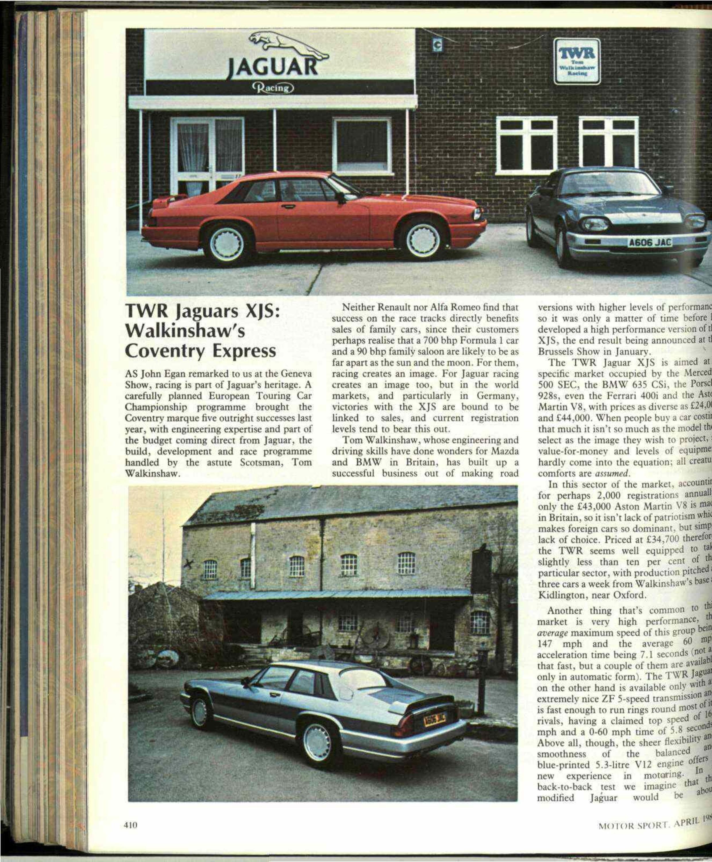 TWR Jaguars XJS: Walkinshaw's Coventry Express | Motor Sport