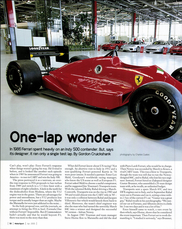 One-lap Wonder | Motor Sport Magazine Archive