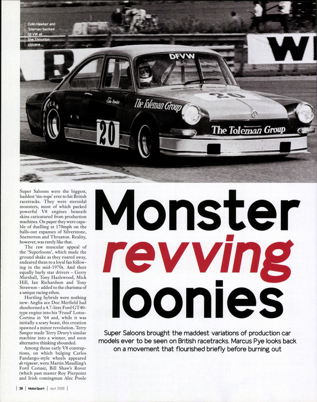 Monster revving loonies image