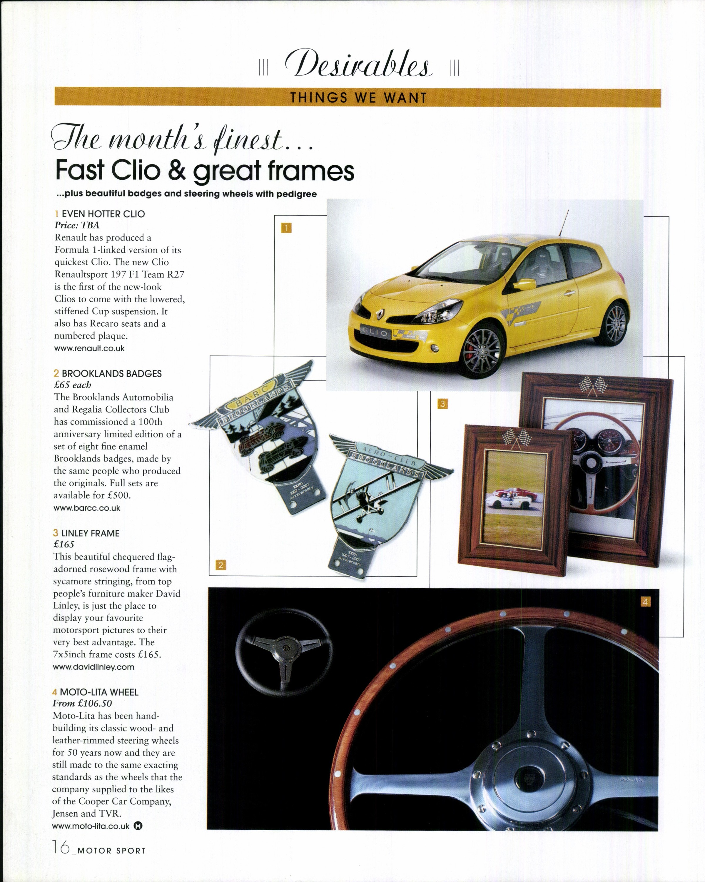 Fast Clio & great frames | Motor Sport Magazine Archive