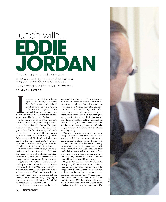 Lunch with Eddie Jordan image
