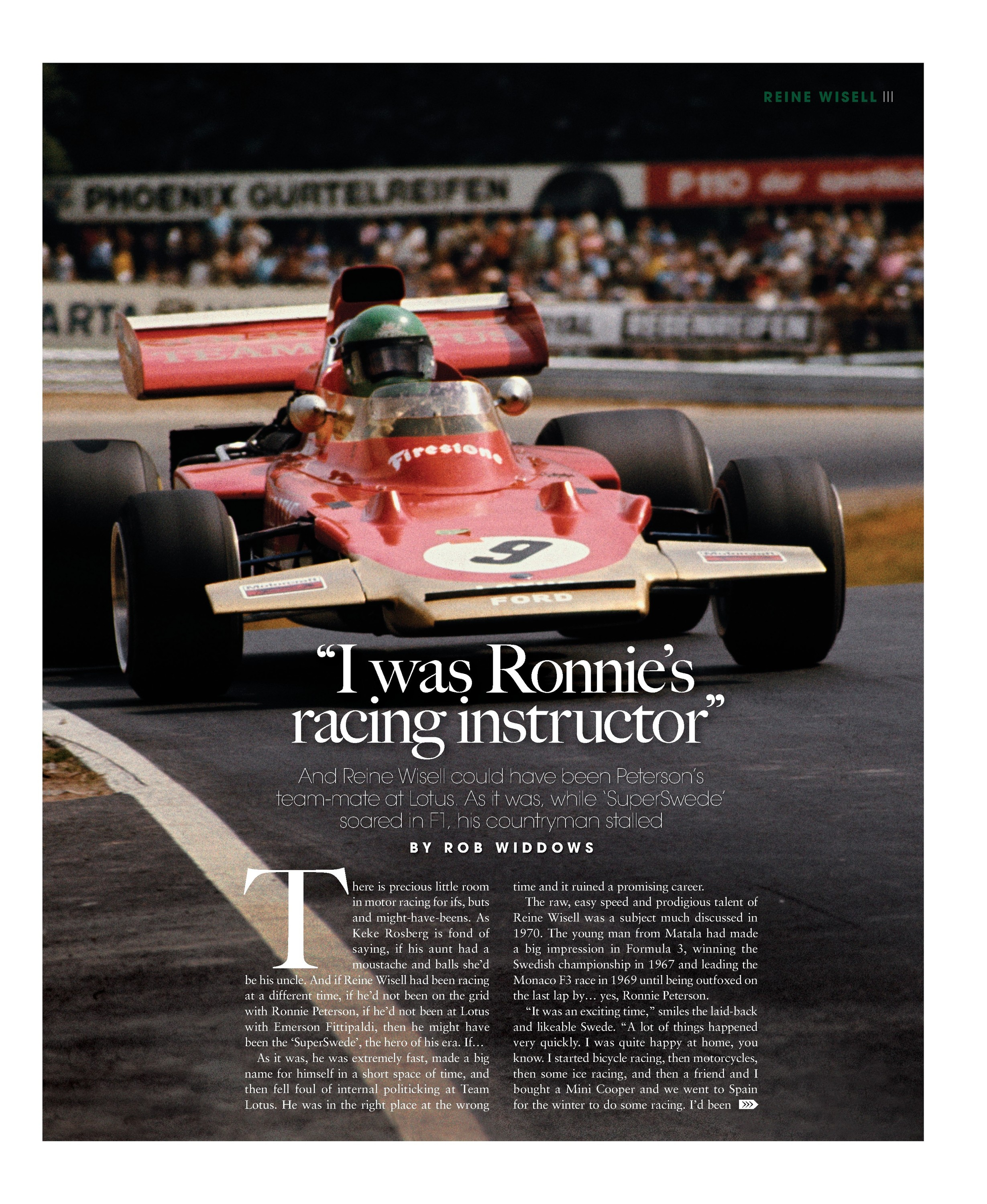 """I was Ronnie's racing instructor"" image"