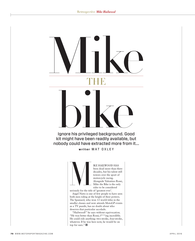 Mike the bike image
