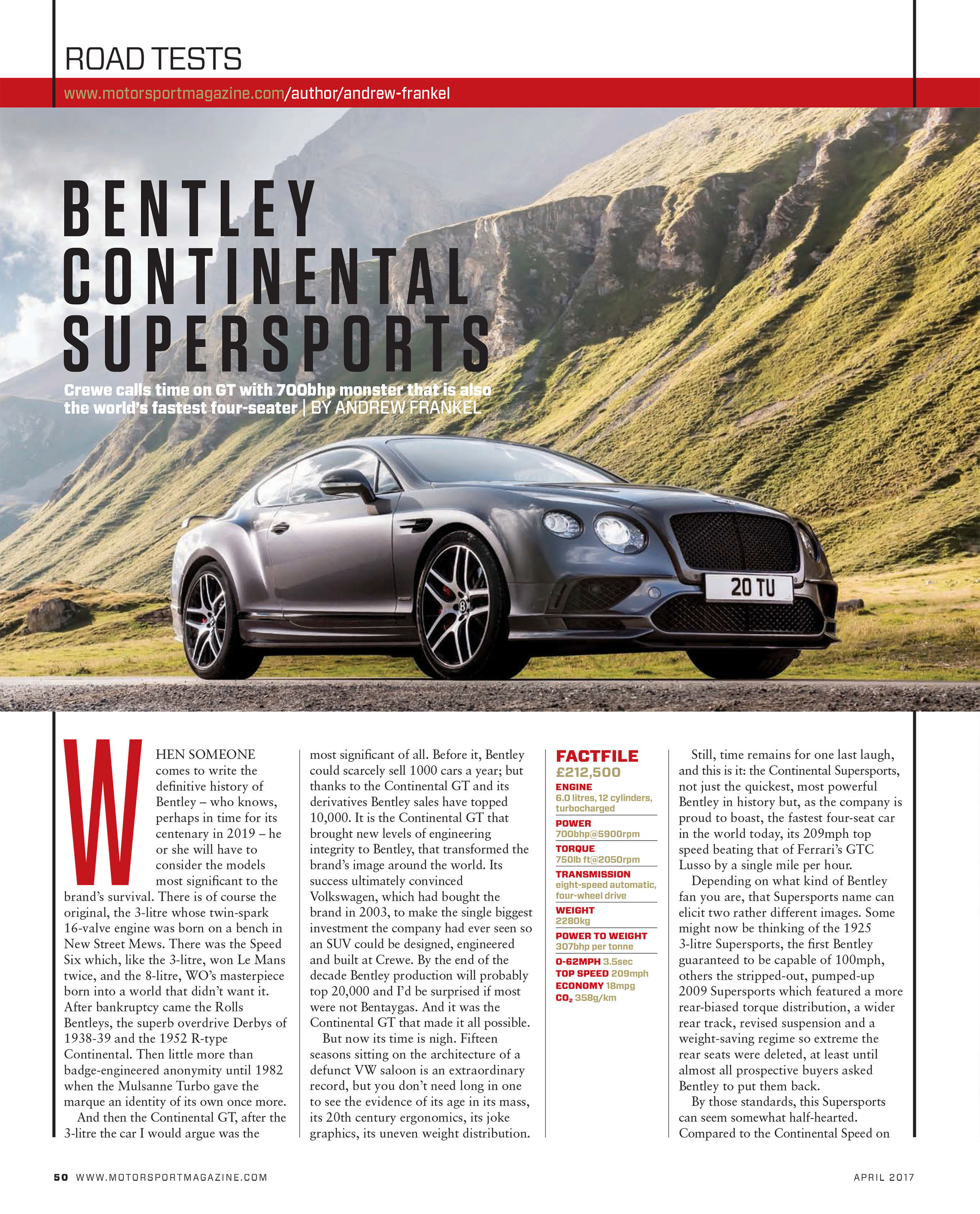 Road test: Bentley Continental Supersports image
