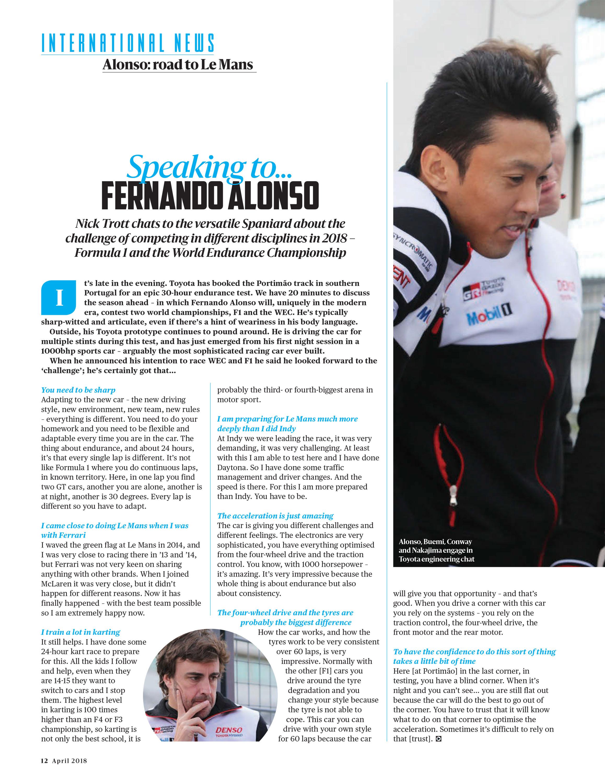 Speaking to... Fernando Alonso image