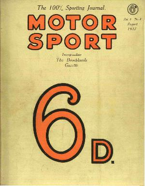 Cover of archive issue August 1927