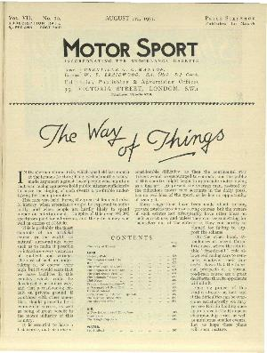 Cover of archive issue August 1931