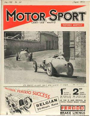 Cover of archive issue August 1932