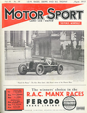 Cover of archive issue August 1933
