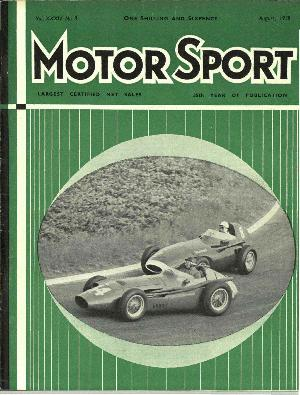 Cover image for August 1958