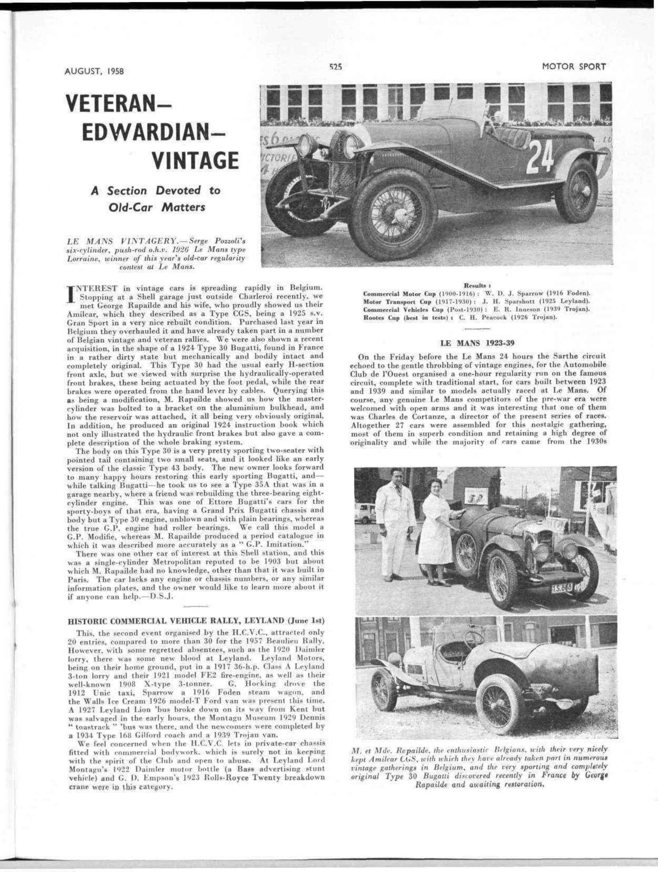 Veteran-Edwardian-Vintage   Motor Sport Magazine Archive