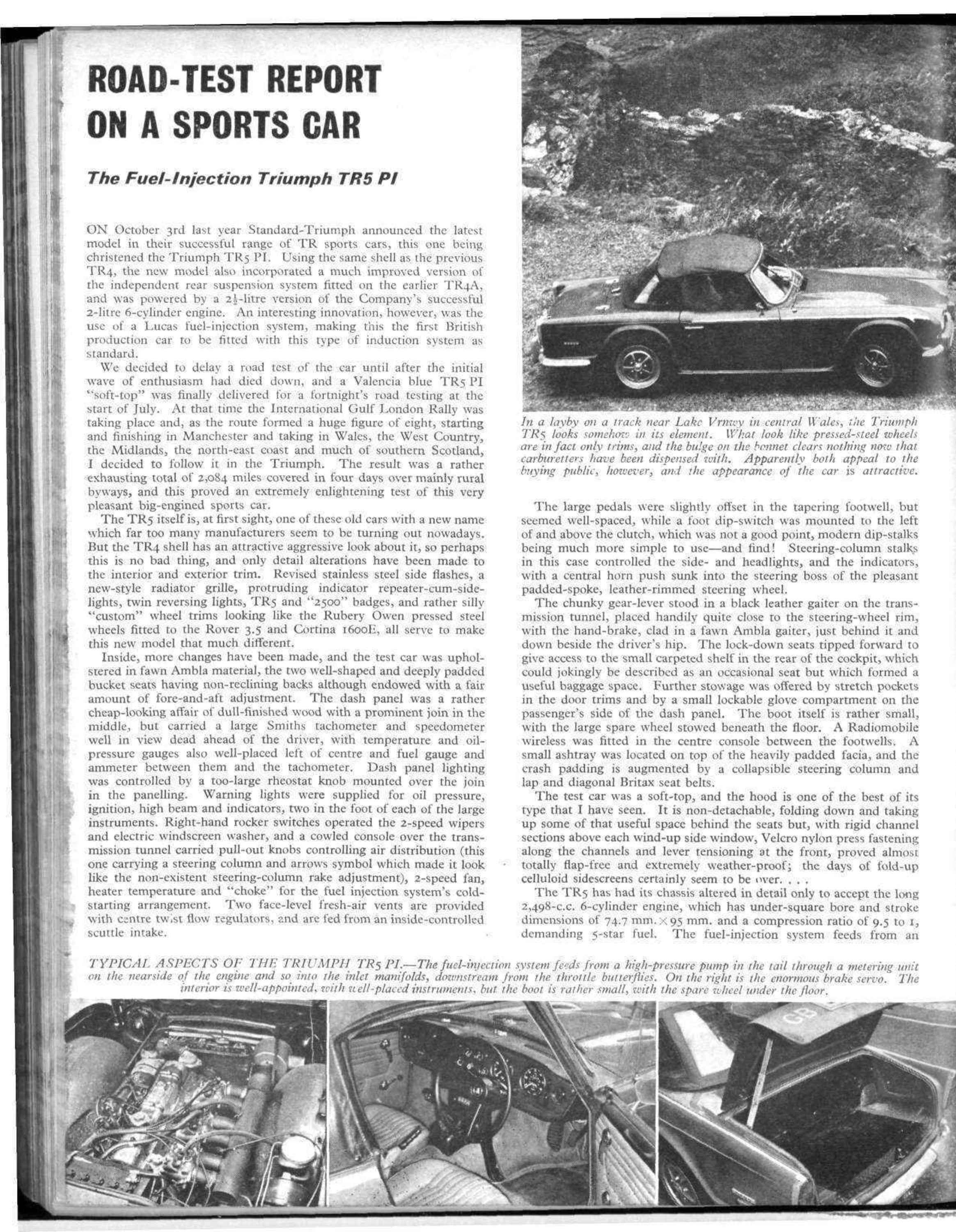 Road Test Report On A Sports Car Motor Sport Magazine Archive