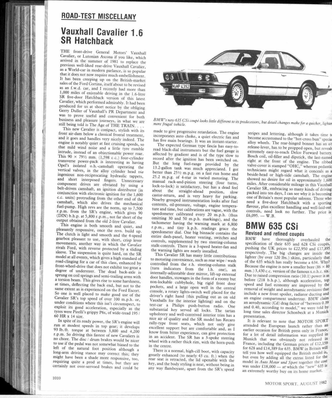 Road Test Miscellany Motor Sport Magazine Archive 1987 Bmw 635csi Fuse Box