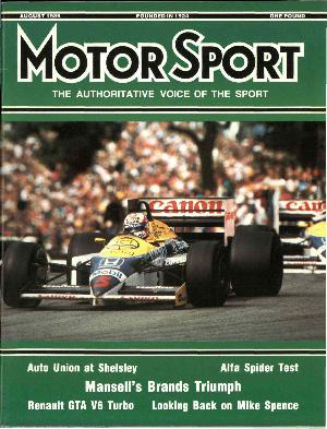 Cover image for August 1986