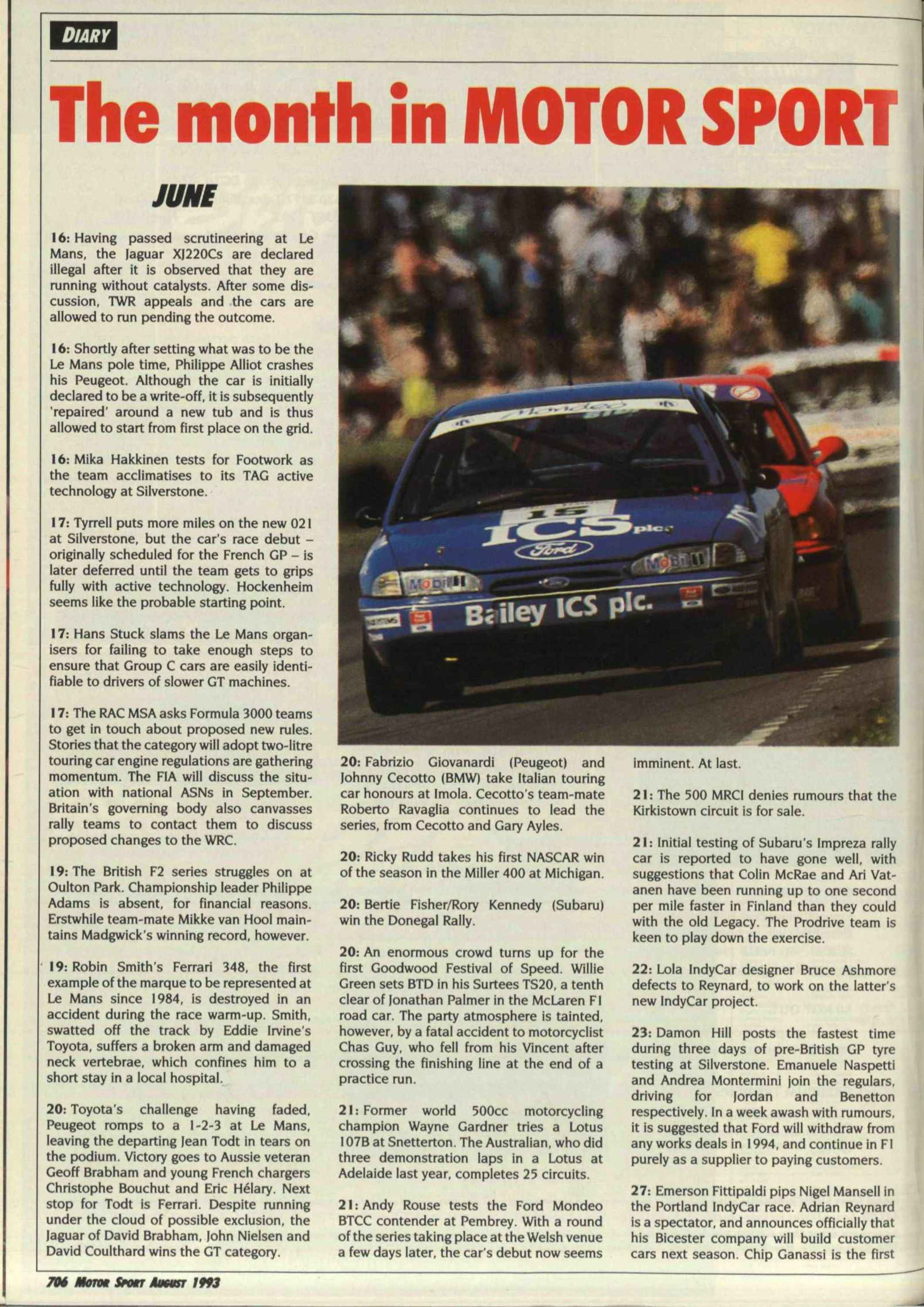 The month in Motor Sport   Motor Sport Magazine Archive