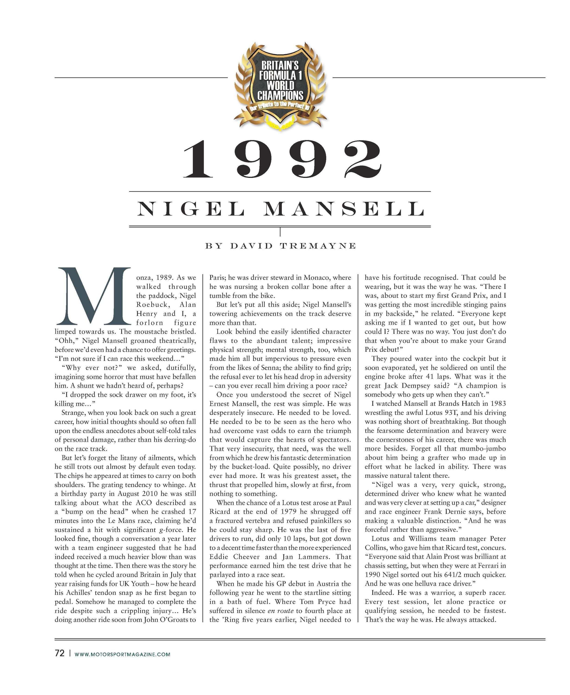 1992 nigel mansell image