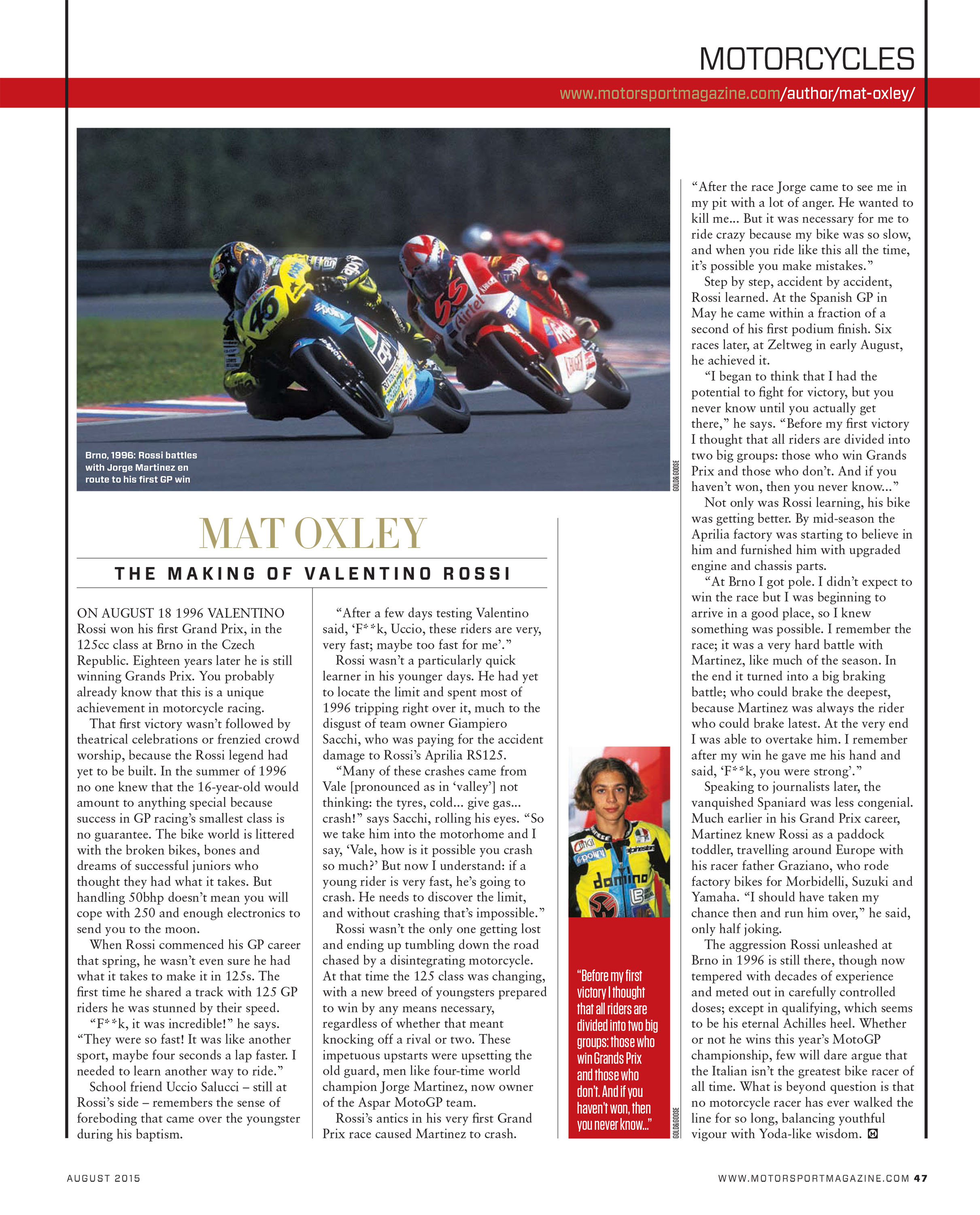The making of Valentino Rossi image