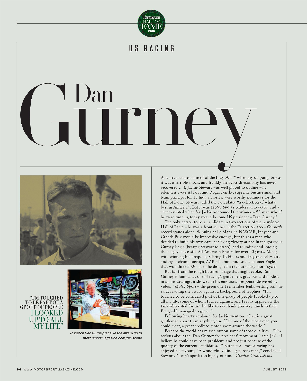 US racing – Dan Gurney image