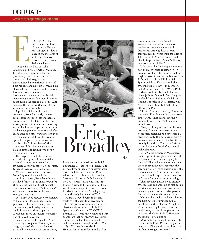 Obituary: Eric Broadley image