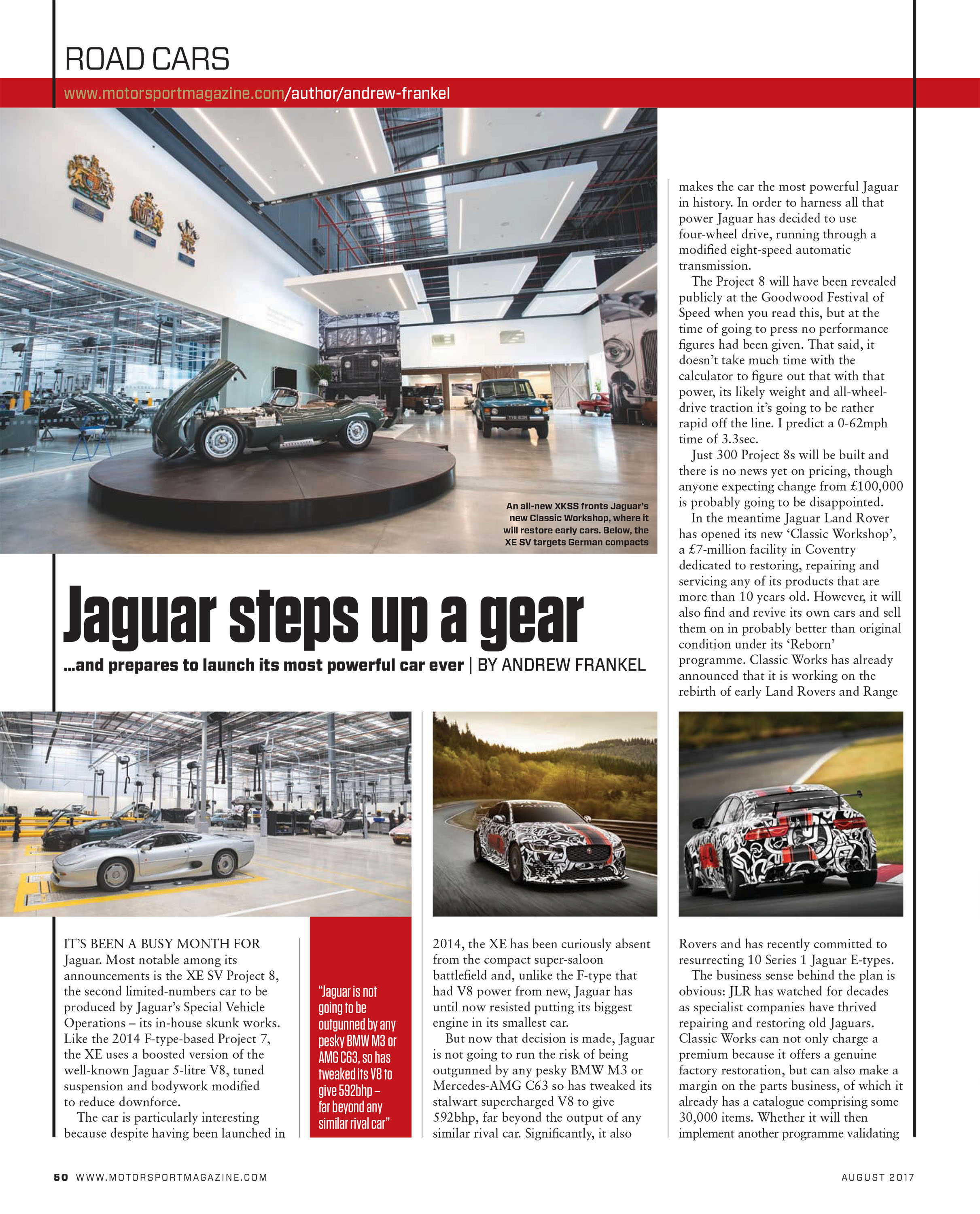 Road cars: Jaguar steps up a gear image