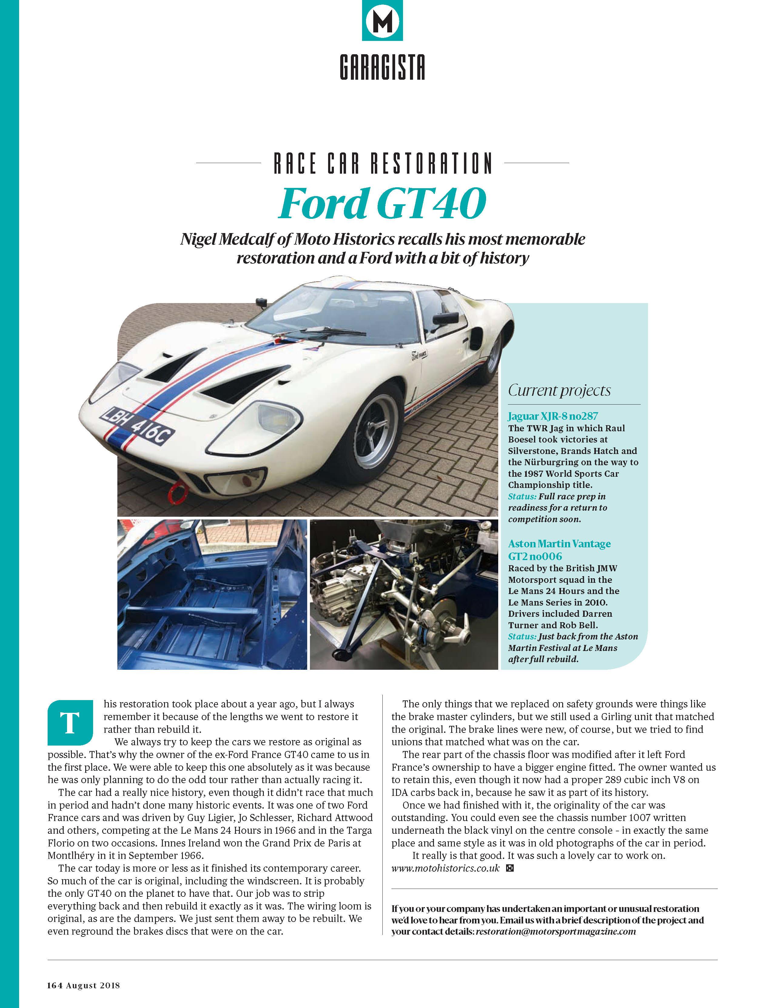 Race Car Restoration: Ford GT40 image