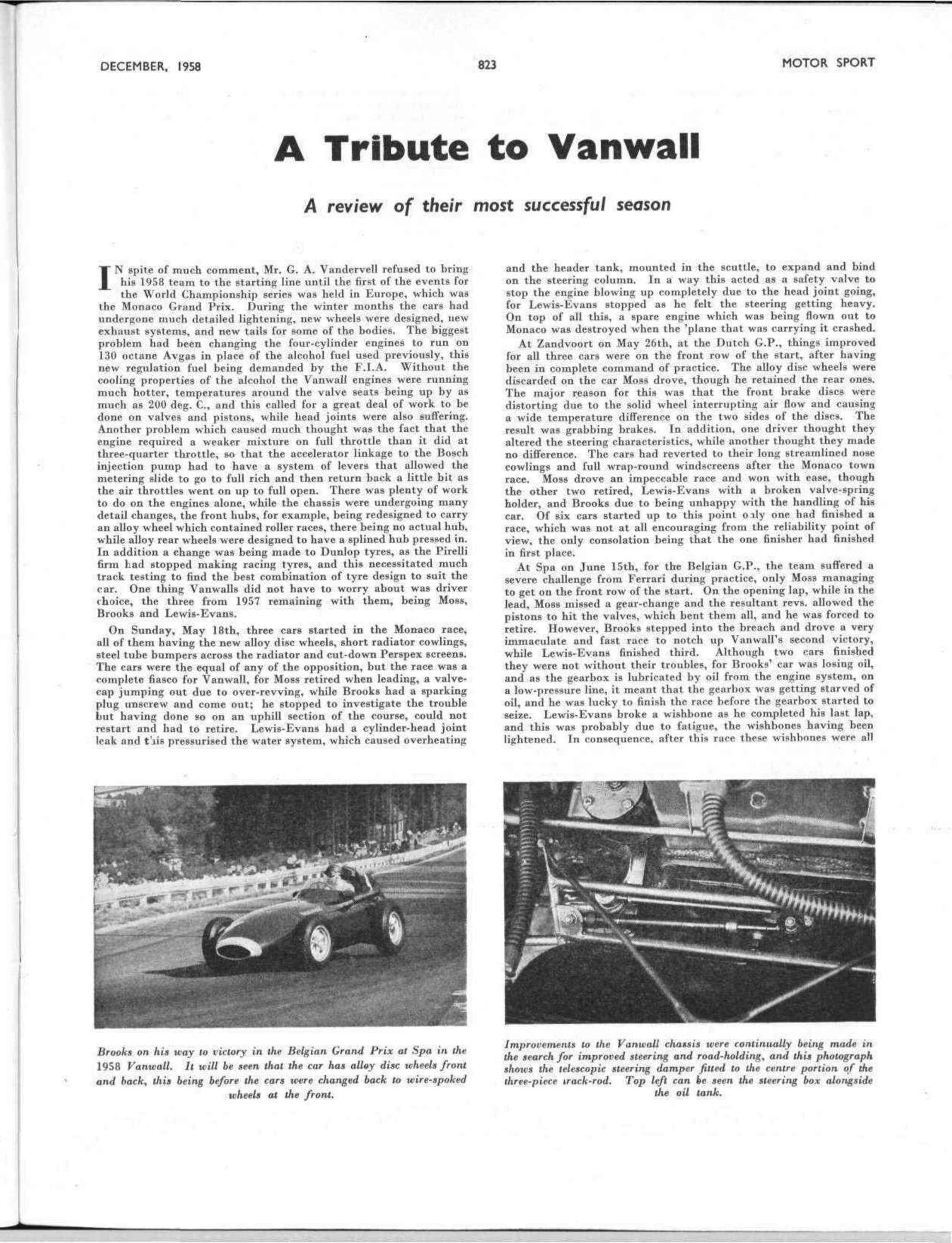 a tribute to vanwall image