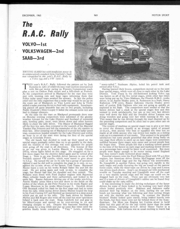 The RAC Rally