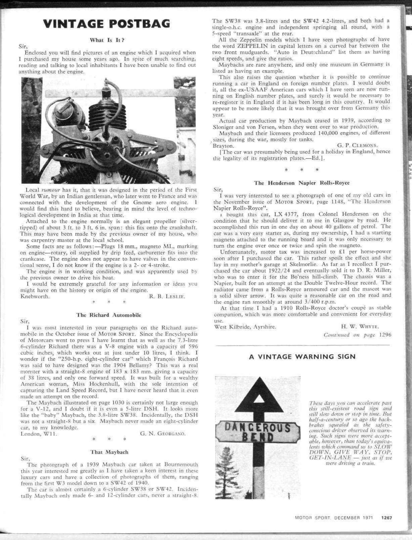 That Maybach | Motor Sport Magazine Archive