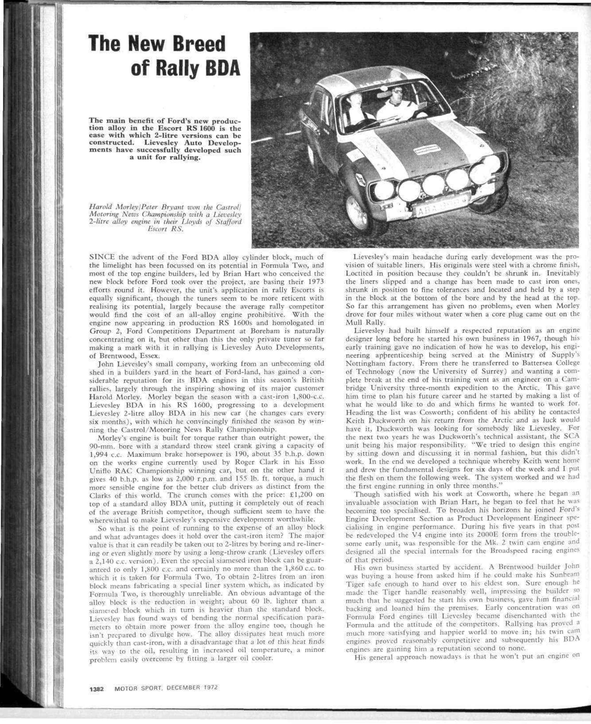 The New Breed Of Rally Bda Motor Sport Magazine Archive 83 Ford 2 3 Timing Marks App