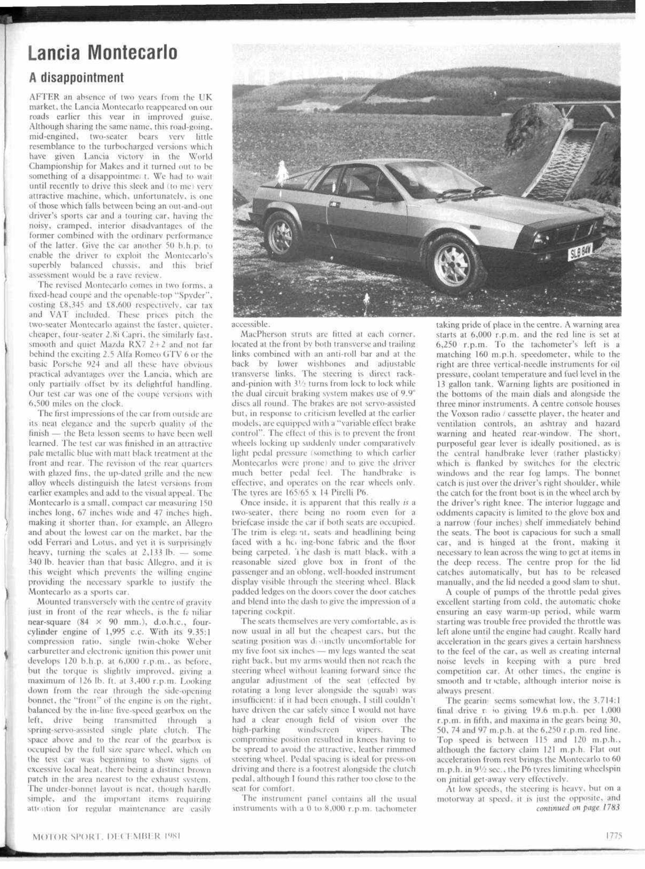 Lancia Montecarlo Motor Sport Magazine Archive 1977 Monte Carlo Engine Diagram