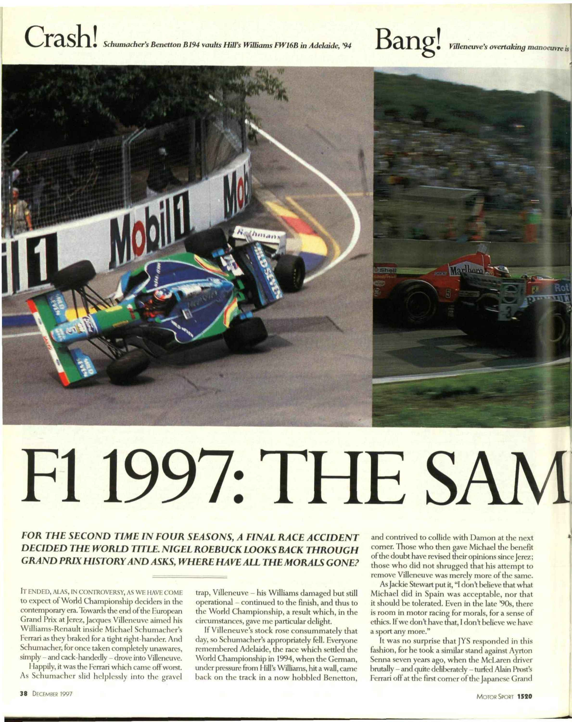 F1 1997: the same old story? image