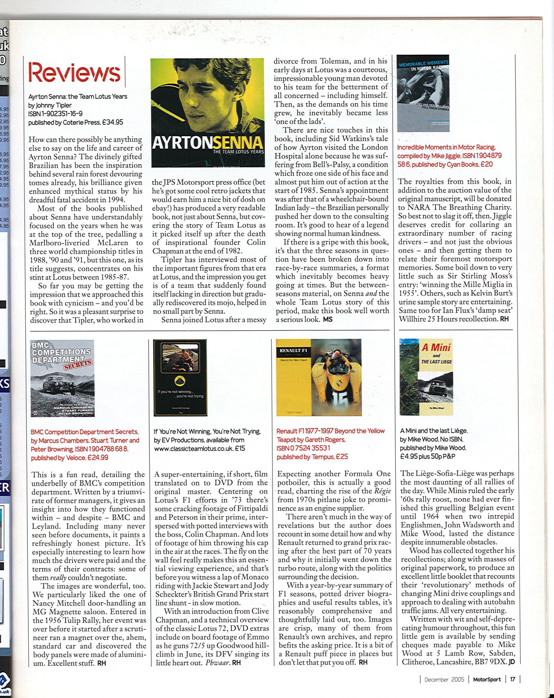 Reviews | Motor Sport Magazine Archive