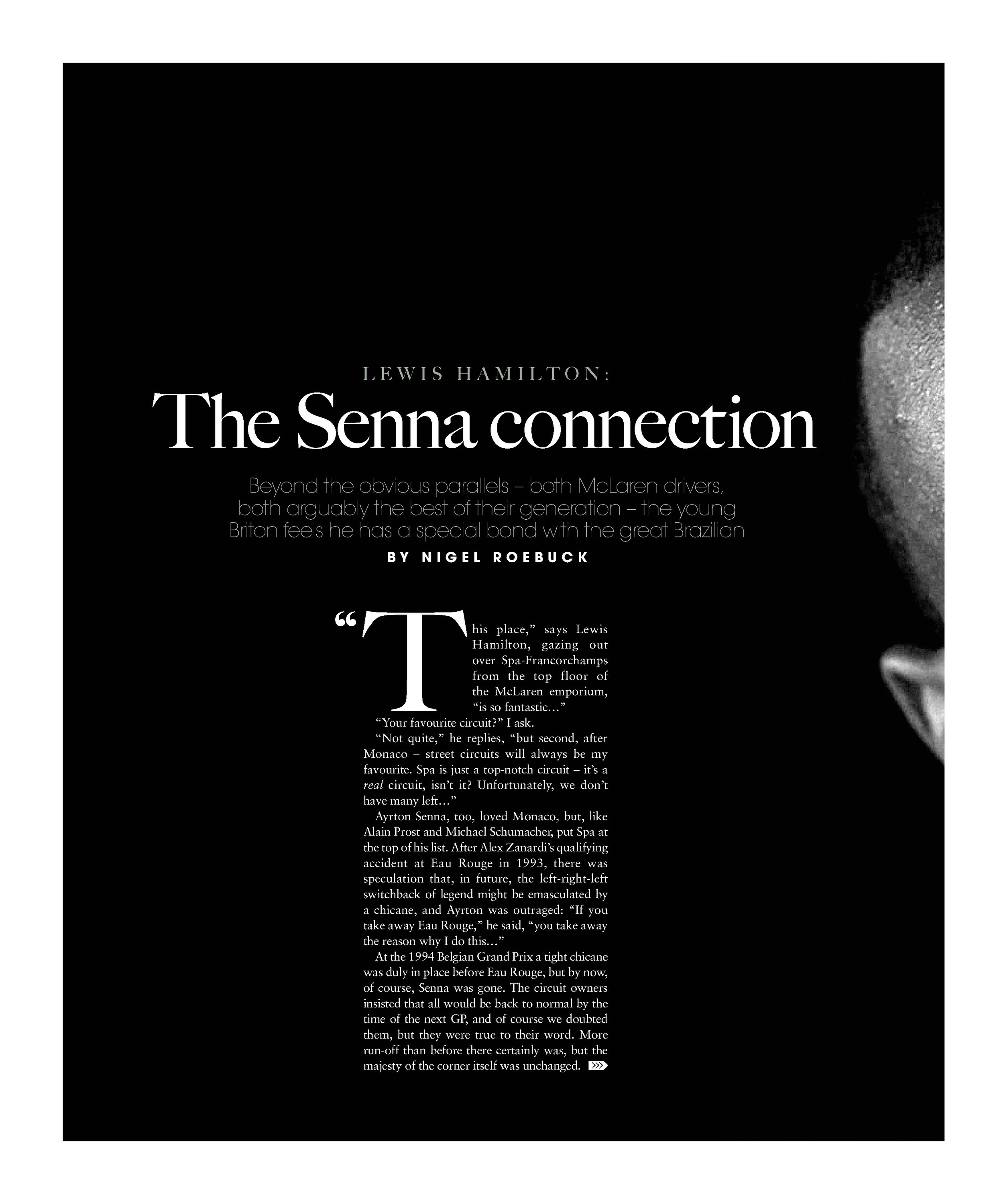 Lewis Hamilton: The Senna connection image
