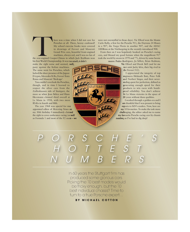Porsche's hottest numbers image