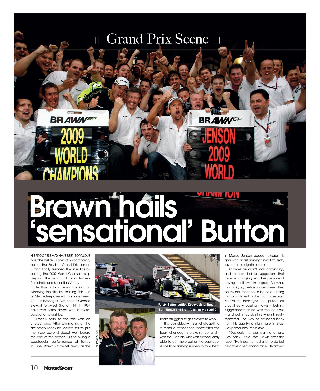 Brawn hails 'sensational' Button image
