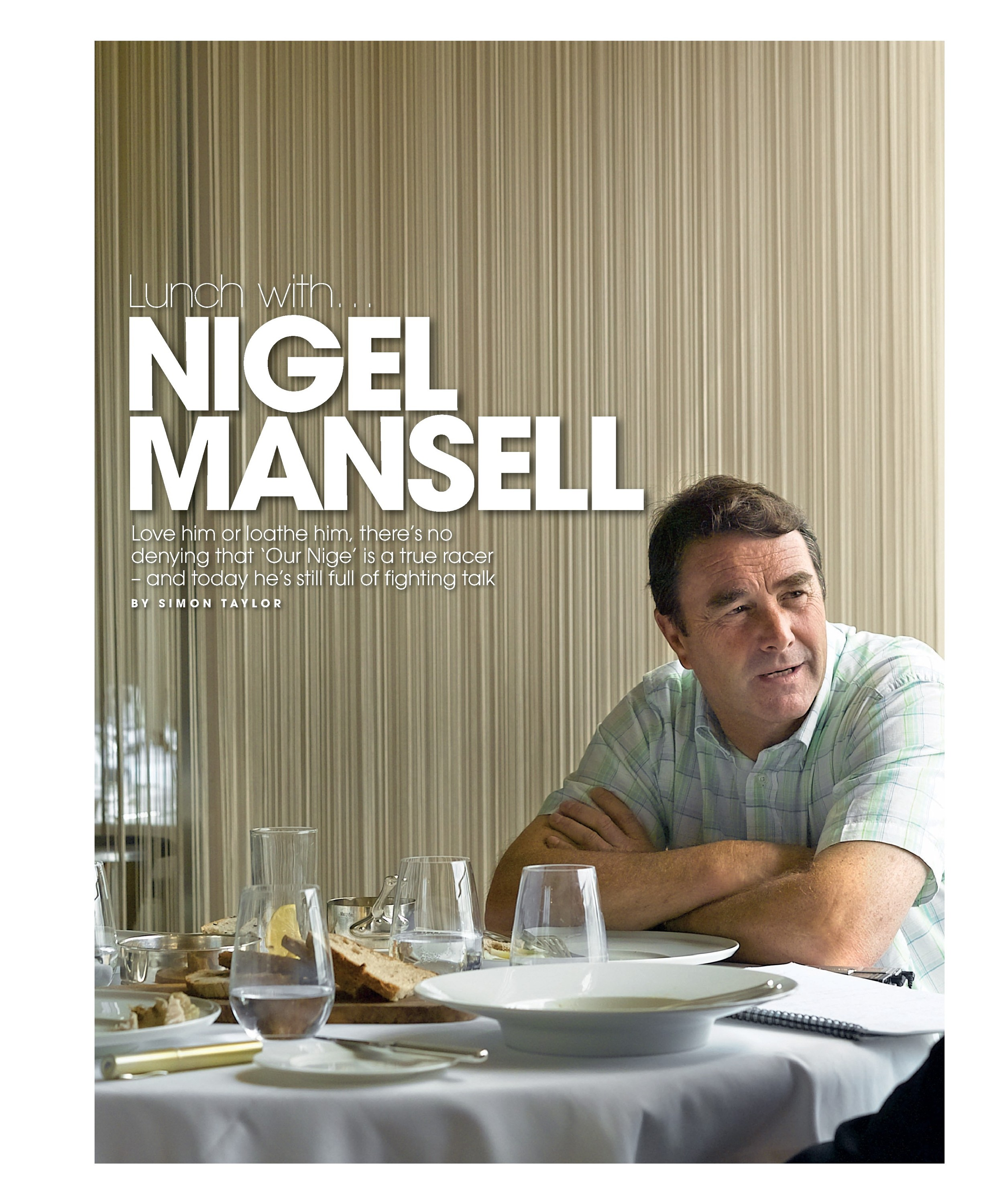 Lunch with... Nigel Mansell image