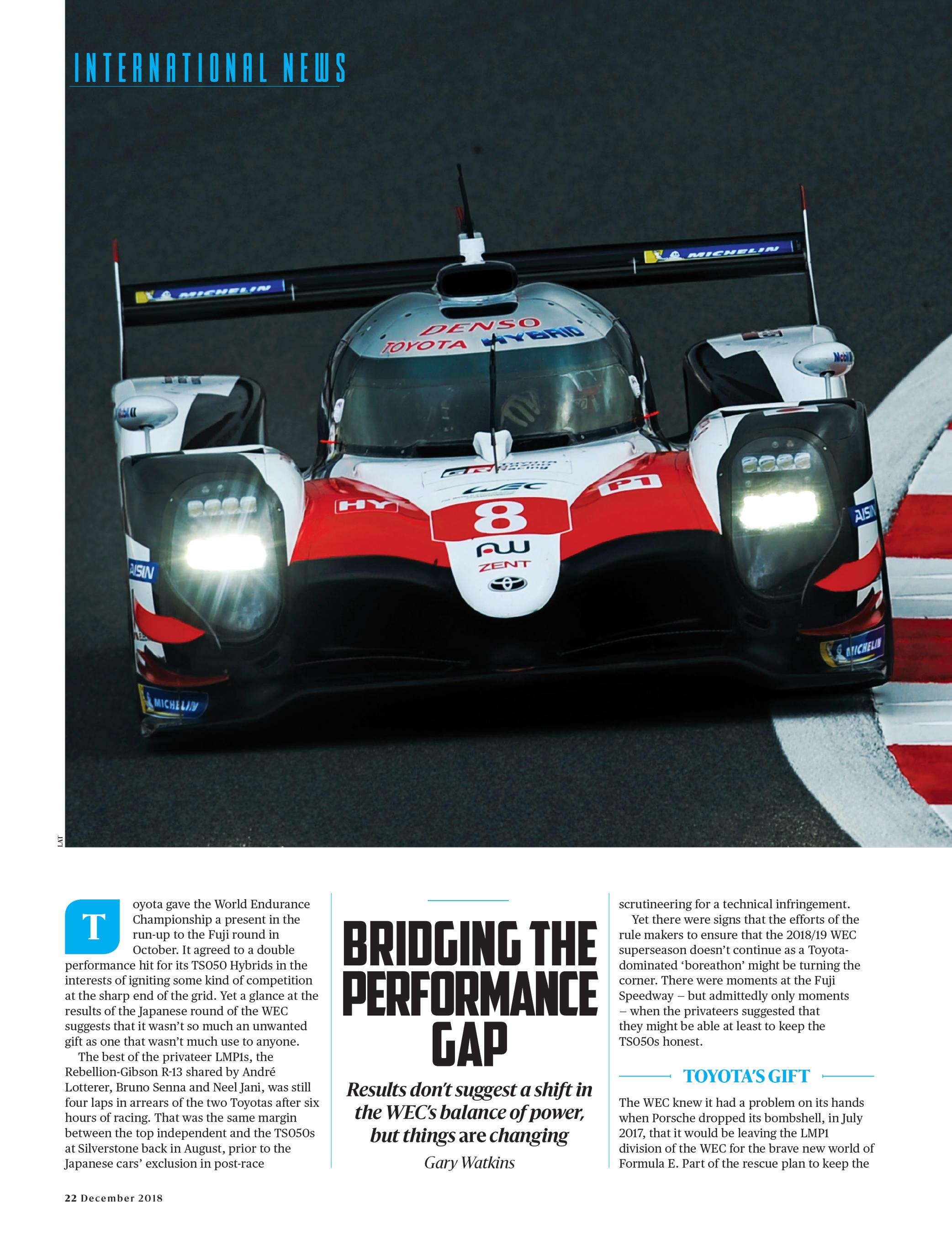 Bridging the Performance Gap | Motor Sport Magazine Archive