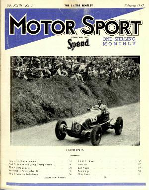 Cover of archive issue February 1947