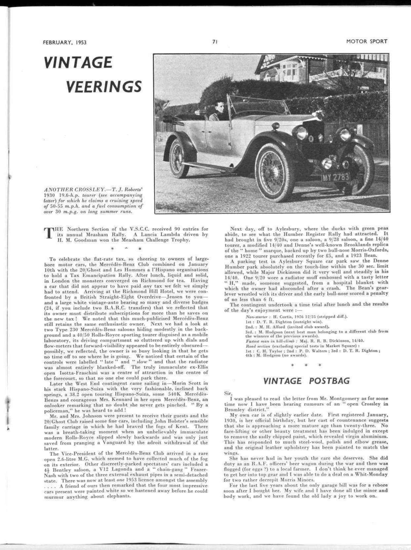 Vintage Veerings | Motor Sport Magazine Archive