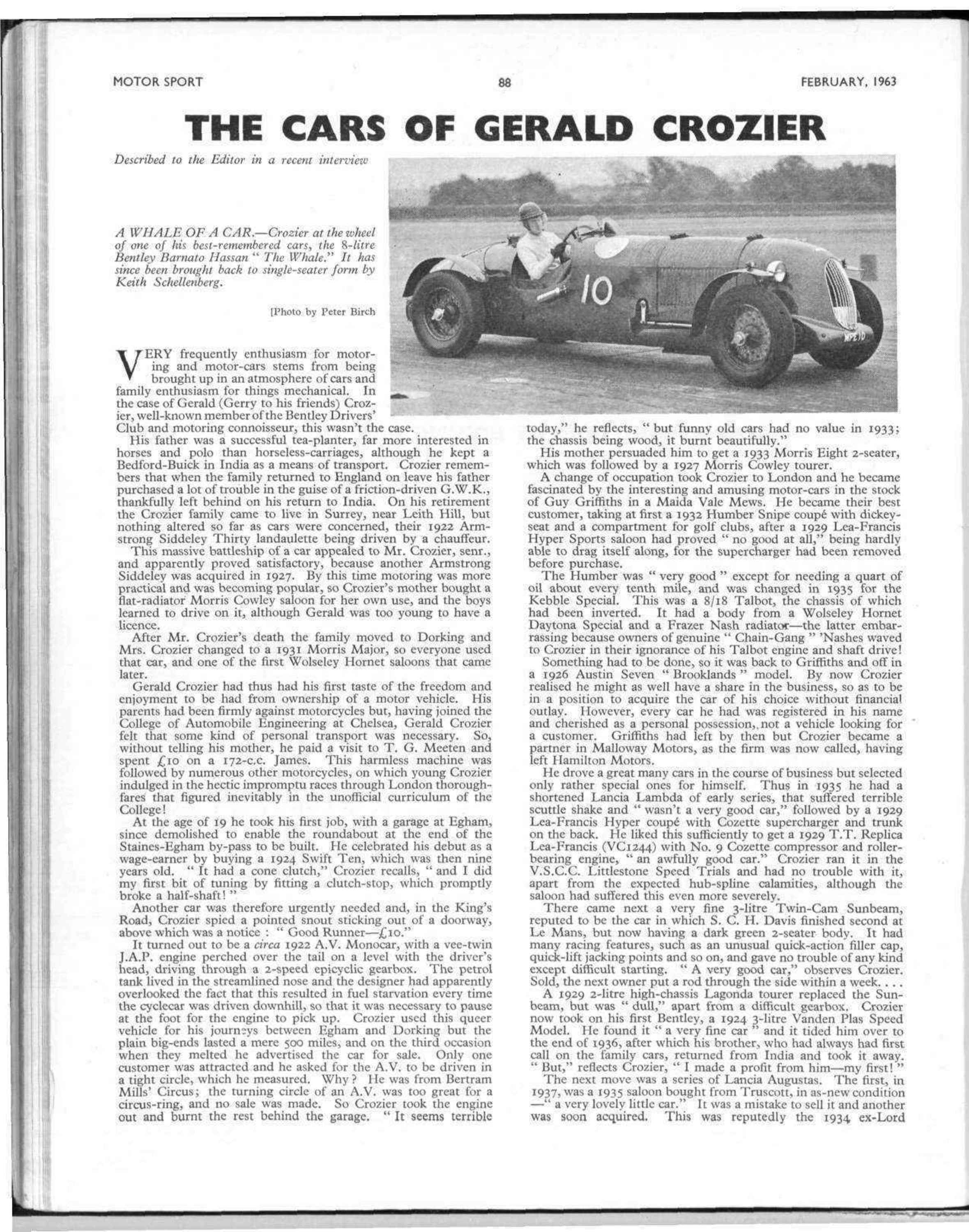 The cars of Gerald Crozier   Motor Sport Magazine Archive