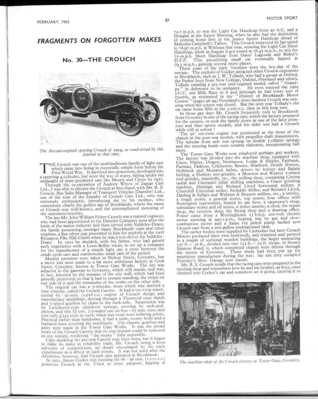 Fragments on forgotten makes   Motor Sport Magazine Archive