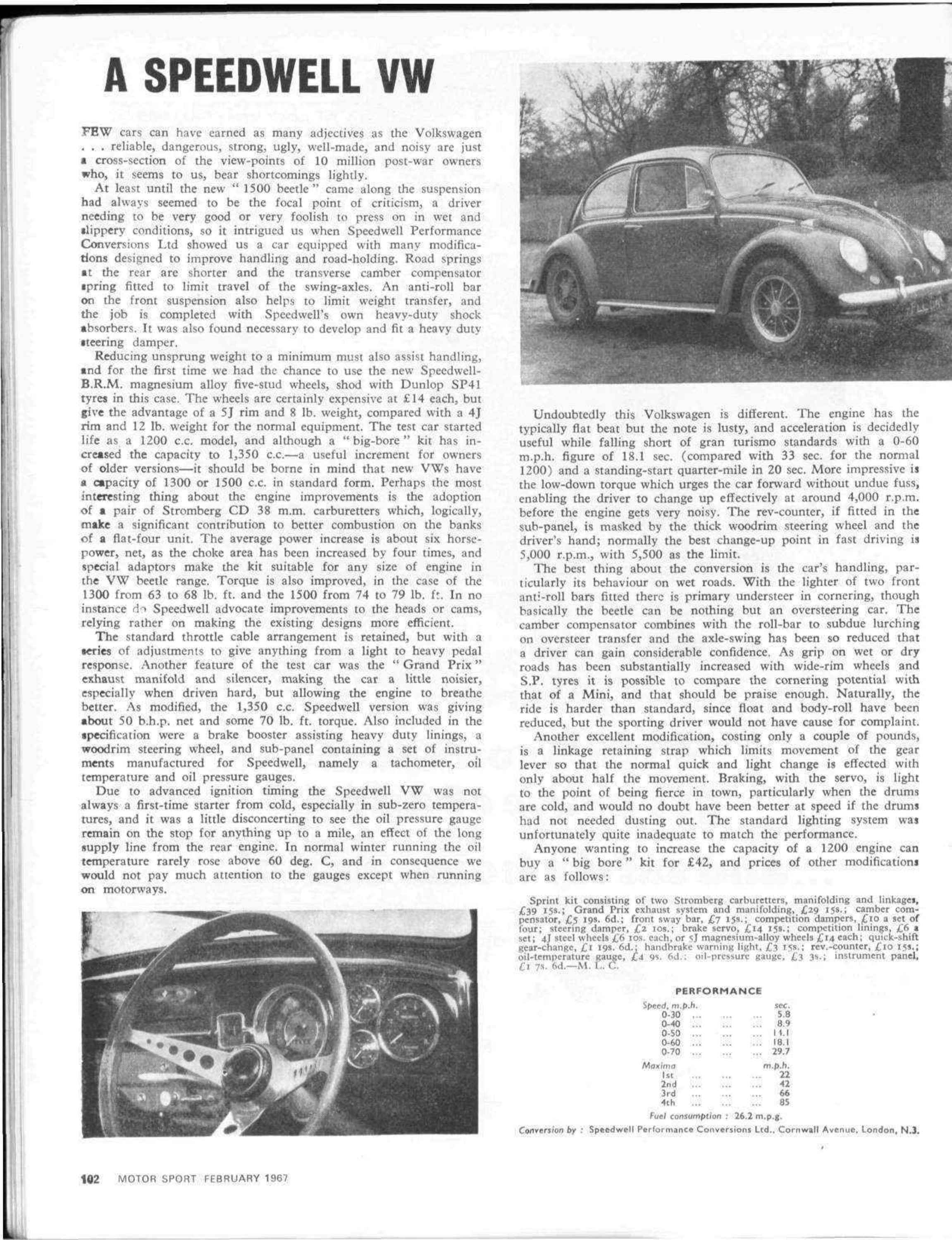 A Speedwell VW | Motor Sport Magazine Archive
