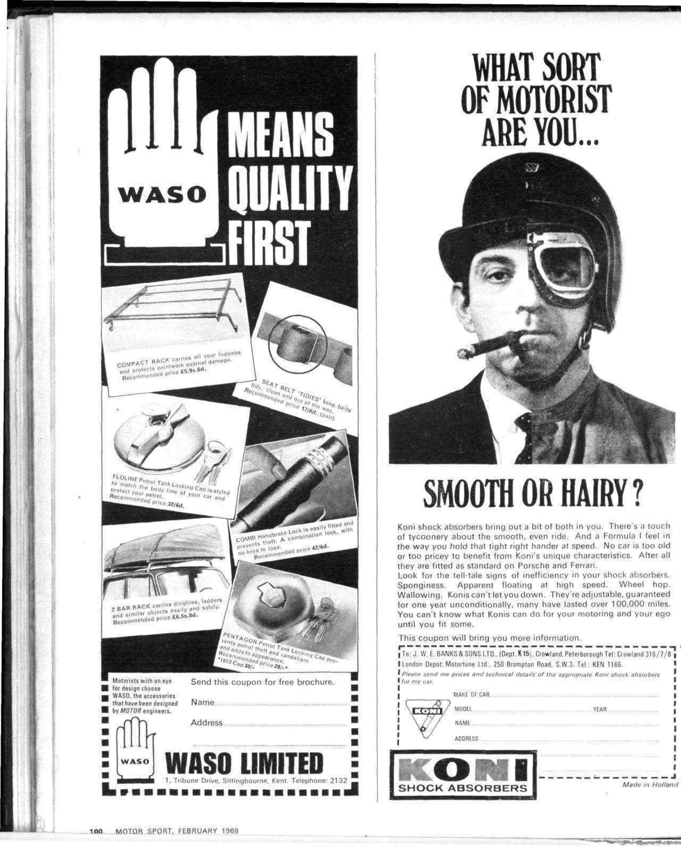 FEBRUARY 1969 MOTORCYCLIST ILLUSTRATED MAGAZINE,DENNIS JONES,HAILWOOD,KAWA 350